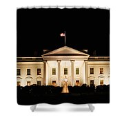 White House At Night Shower Curtain