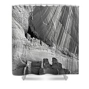 White House Black And White Shower Curtain