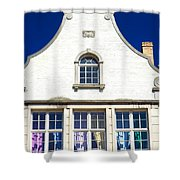 White House In Bruges Shower Curtain