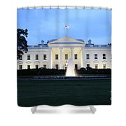 White House In Eveninglight Washington Dc Shower Curtain