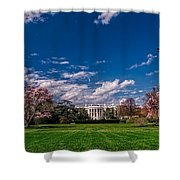 White House Lawn In Spring Shower Curtain