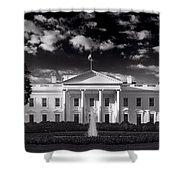 White House Sunrise B W Shower Curtain