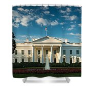 White House Sunrise Shower Curtain