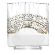 White Jade Shower Curtain