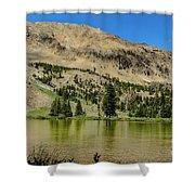 White Knob Mountain Lake Shower Curtain