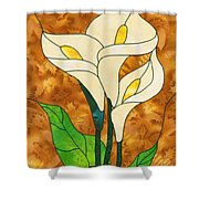 White Life Shower Curtain