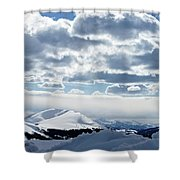 White Light Shower Curtain