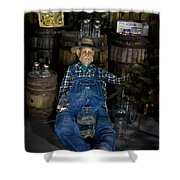 White Lightnin Road And Jeb Shower Curtain by DigiArt Diaries by Vicky B Fuller