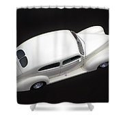 White Lines Shower Curtain