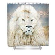 White Lion - Spirit Of Goodness Shower Curtain