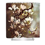 White Magnolias Shower Curtain