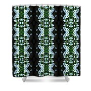 White Miniature Petunias Pattern Shower Curtain