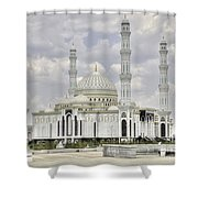 White Mosque Shower Curtain