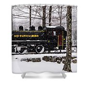 White Mountains Railroad And Train Shower Curtain