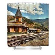 White Mountans Crawford Train Depot Shower Curtain
