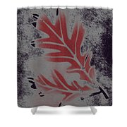 White Oak Leaf Shower Curtain
