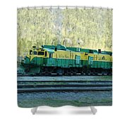White Pass Railroad 2 Shower Curtain