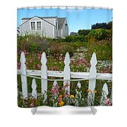 White Picket Fence In Mendocino Shower Curtain