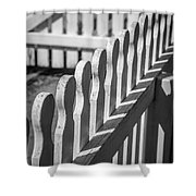 White Picket Fence Portsmouth Shower Curtain