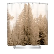 White Pines Shower Curtain