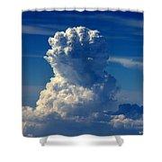 White Power II Shower Curtain