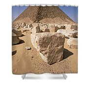 White Pyramid Of King Snefru Shower Curtain