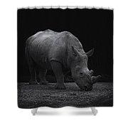 White Rhinocero Shower Curtain