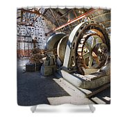 White River Falls State Park Powerhouse Shower Curtain