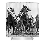 White River With Jockey Tommy Barrow Shower Curtain