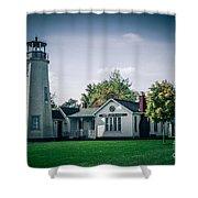 White Rock Light Shower Curtain
