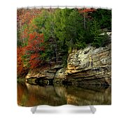 White Rock River Shower Curtain