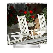 White Rockers Flower 21160 Shower Curtain