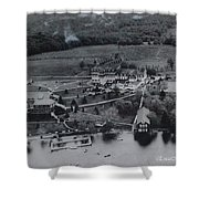 White Roe Lake Hotel-catskill Mountains Ny Shower Curtain