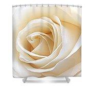 White Rose Heart Shower Curtain