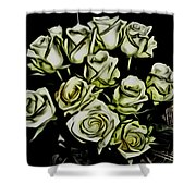 White Roses - Moving On Shower Curtain