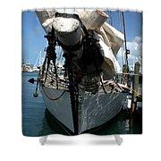 White Sail   Shower Curtain