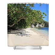 White Sand And Blue Sky Shower Curtain