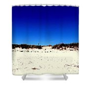 White Sand Blue Skies Shower Curtain
