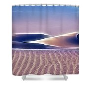 White Sands Abstract Shower Curtain