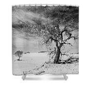 White Sands National Monument 1 Light Mono Shower Curtain