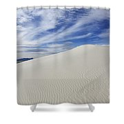 White Sands National Monument Big Dune Shower Curtain by Bob Christopher