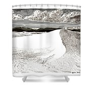 White Sands New Mexico Shower Curtain by Jack Pumphrey