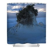 White Sands Turns Blue Shower Curtain
