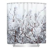 White Silence Shower Curtain