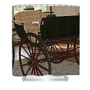 White Spring Carriage Shower Curtain
