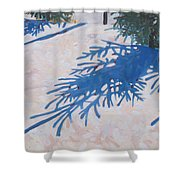 White Spruce Shower Curtain