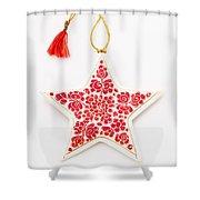 White Star Shower Curtain
