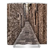 White Streets Of Dubrovnik No3 Shower Curtain