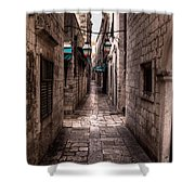White Streets Of Dubrovnik No5 Shower Curtain