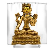 White Tara Shower Curtain